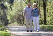 Regelmäßige Spaziergänge in Kombination mit Kraftsport sind ideal, um den Muskelaufbau anzuregen